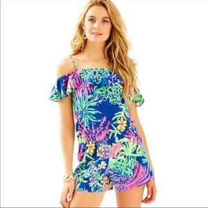Lilly Pulitzer Lea romper cold shoulder